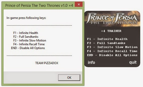 Prince of Persia The Two Thrones ( 9 Trainer)