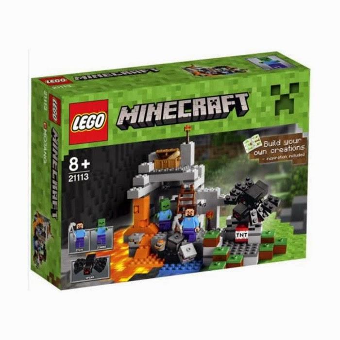 TOYS : JUGUETES - LEGO Minecraft 21113 La Cueva | The Cave  Producto Oficial 2014 | A partir de 8 años