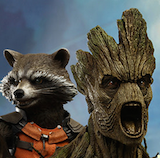 Rocket and Groot Marvel Sixth Scale Figure Set