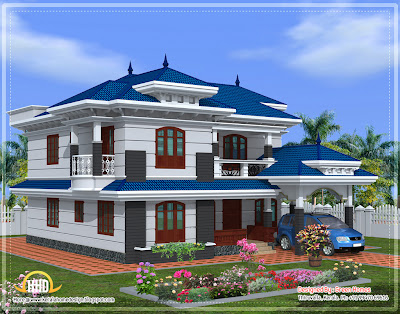 Beautiful Kerala home design - 2222 Sq.Ft. - Kerala home design ...