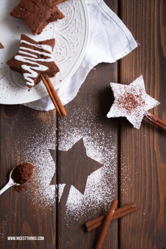 Brownie Sterne Rezept Weihnachtliche Brownies Am Zimtstangen Stiel