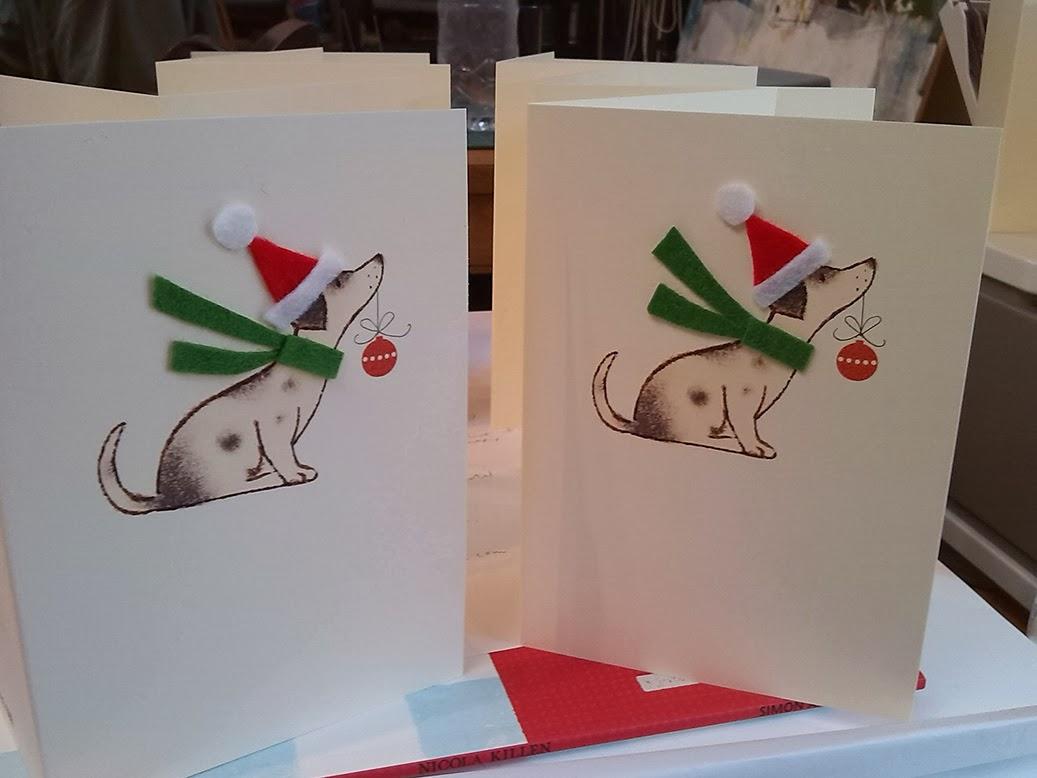 nicola killen: Some new handmade Christmas cards...