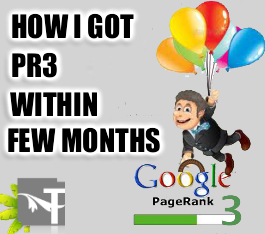 How I got Google PR3 within few months