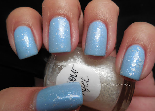 Elevation Polish Alphubel topped with Lynnderella Snow Angel