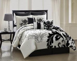 couvre lit noir et blanc