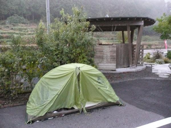 26_my tent infront of Kuboshi no Sato Onsen