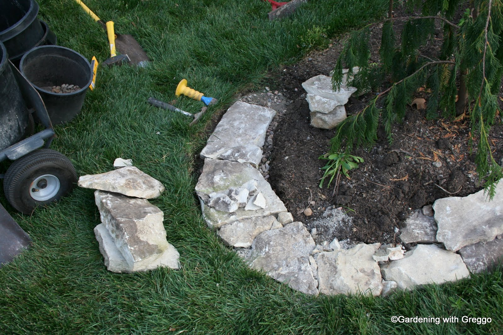 gardening with greggo field stone edging diy