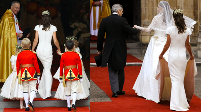 Pippa Middleton following her sister at the Royal Wedding stole the show with her stunning looks. YouTube 2011.