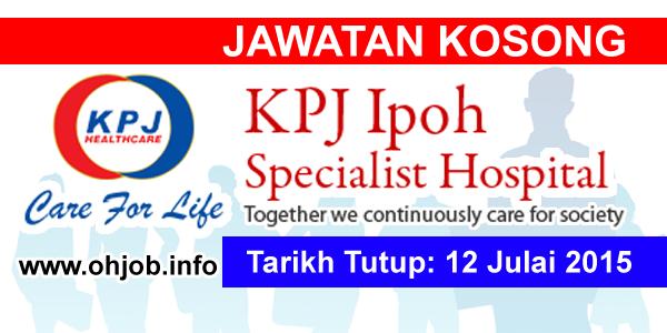 Jawatan Kerja Kosong KPJ Ipoh Specialist Hospital logo www.ohjob.info julai 2015