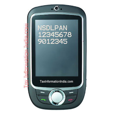 PAN card application status by using the SMS facility of NSDL
