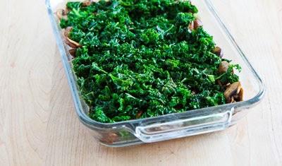 Kale, Mushroom, Feta, and Mozzarella Breakfast Casserole ...