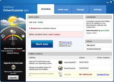 التعريفات وتحديثها Uniblue DriverScanner 2013 v4.0.9.10 MULT,2013 Uniblue-DriverScanne