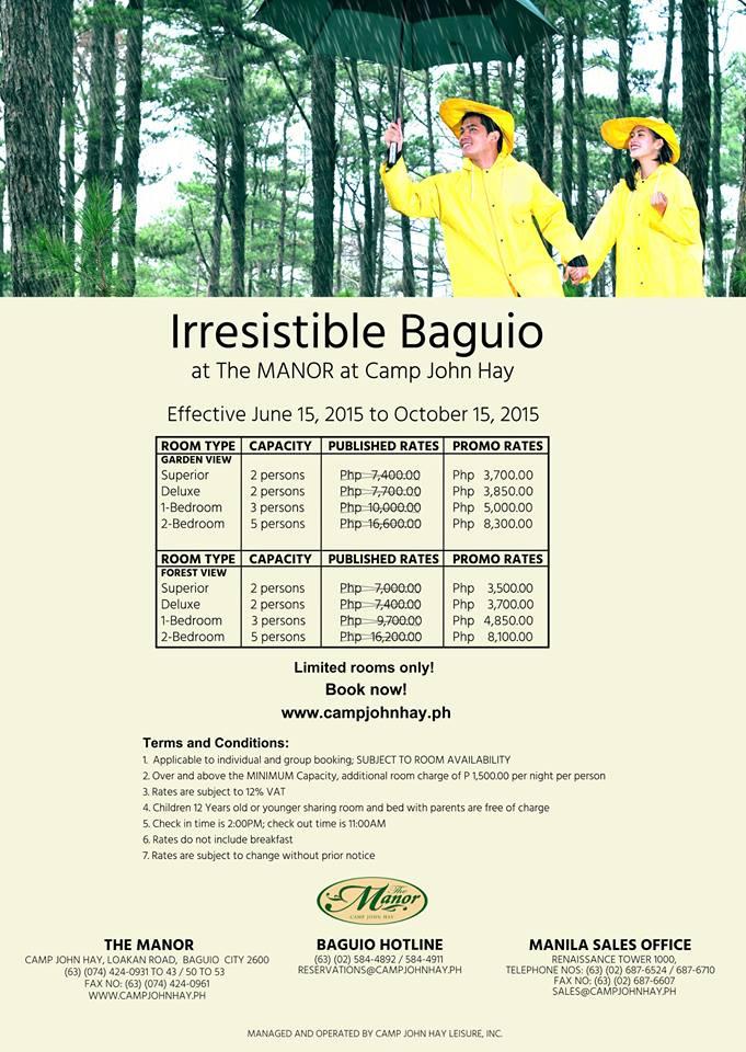 Hotel  Baguio Room Rates