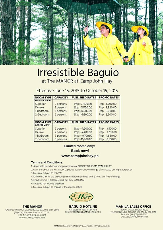 The Manor Baguio Room Rates and Promo Discounts