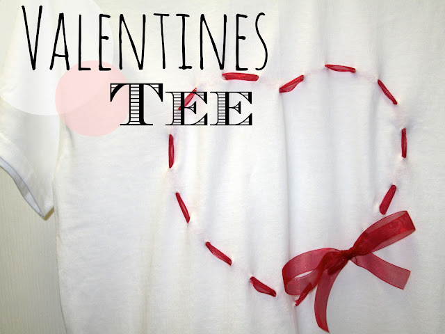 DIY Heart-Shaped Ribbon Tee