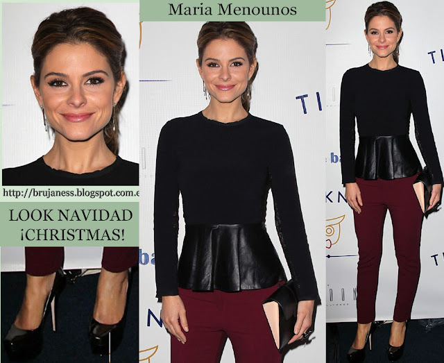 Maria Menounos periodista, actriz y presentadora de televisión norteamericana Today, Access Hollywood y Extra, lució este conjunto para asistir a la gala benéfica de Tie The Knot en West Hollywood 2012 noviembre november Charity Launch Benefit