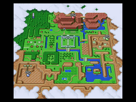 Superphillip central the legend of zelda a link to the past snes the kingdom of hyrule light world version aloadofball Choice Image