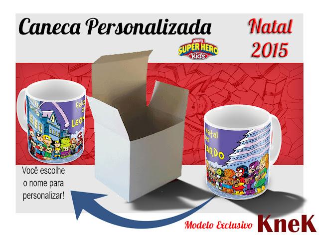 Canecas Personalizadas Marvel Natal 2015 KneK Curitiba