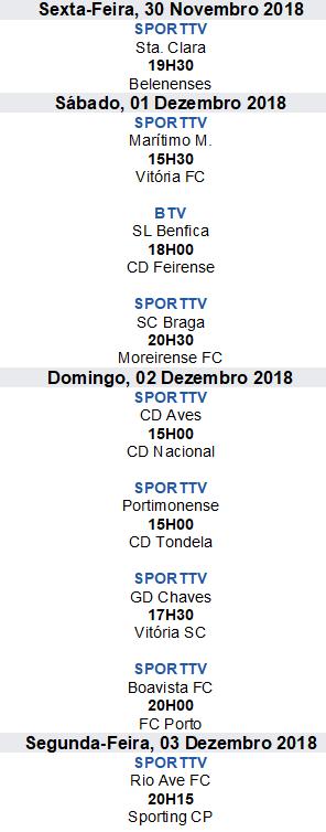 Liga Nós 2018-2019 11ºJornada