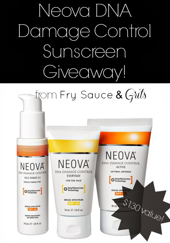 Neova DNA Damage Control Sunscreen Giveaway from FrySauceandGrits.com