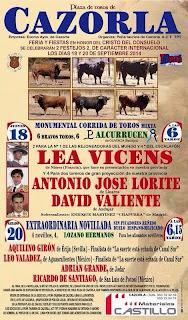Cazorla - Feria 2014 - Cartel Taurino