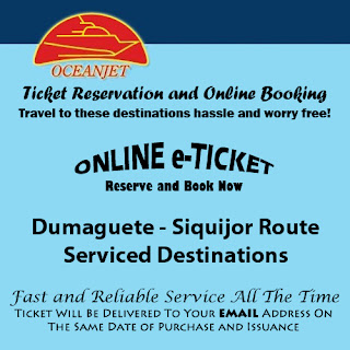 OceanJet Dumaguete-Siquijor Route Ticket Reservation and Online Booking