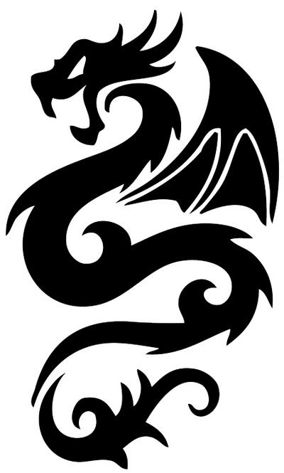 Dragon Tattoo Stencils