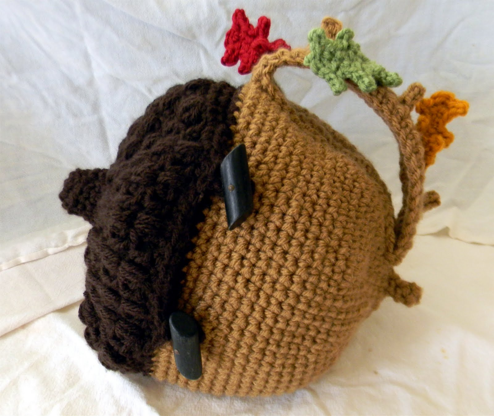Knitting Pattern For Acorn Hat : Bizzy Crochet: Acorn Bag~ Etsy Exclusive