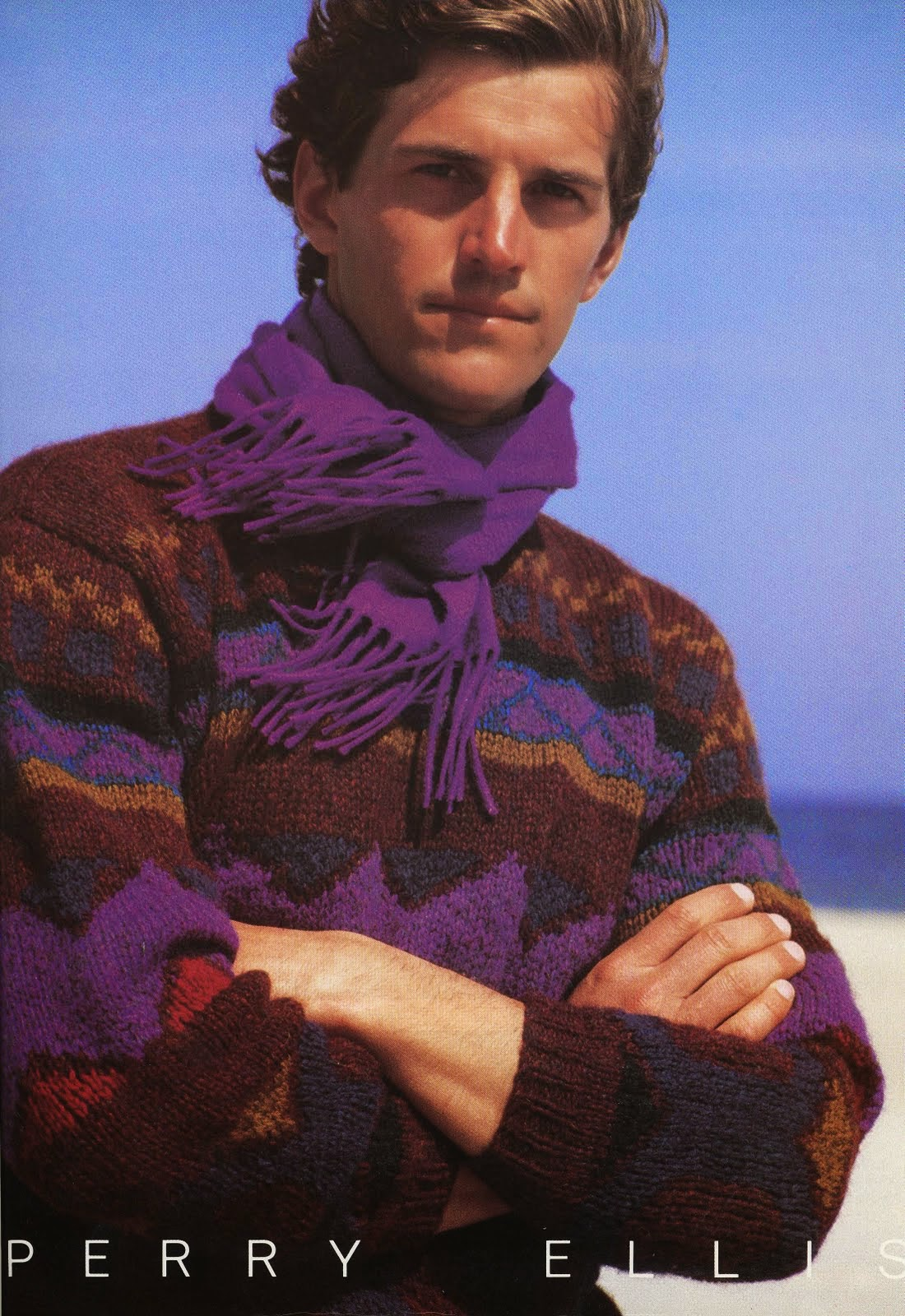 Perry Ellis Hand Knit Sweaters