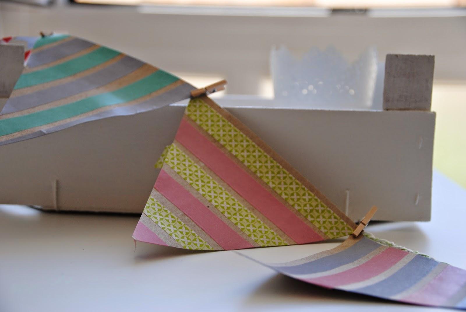 imagen banderines washi tape