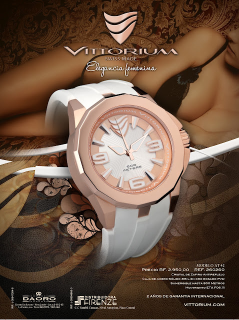 vittorium switzeland swiss made watch pink gold pvd