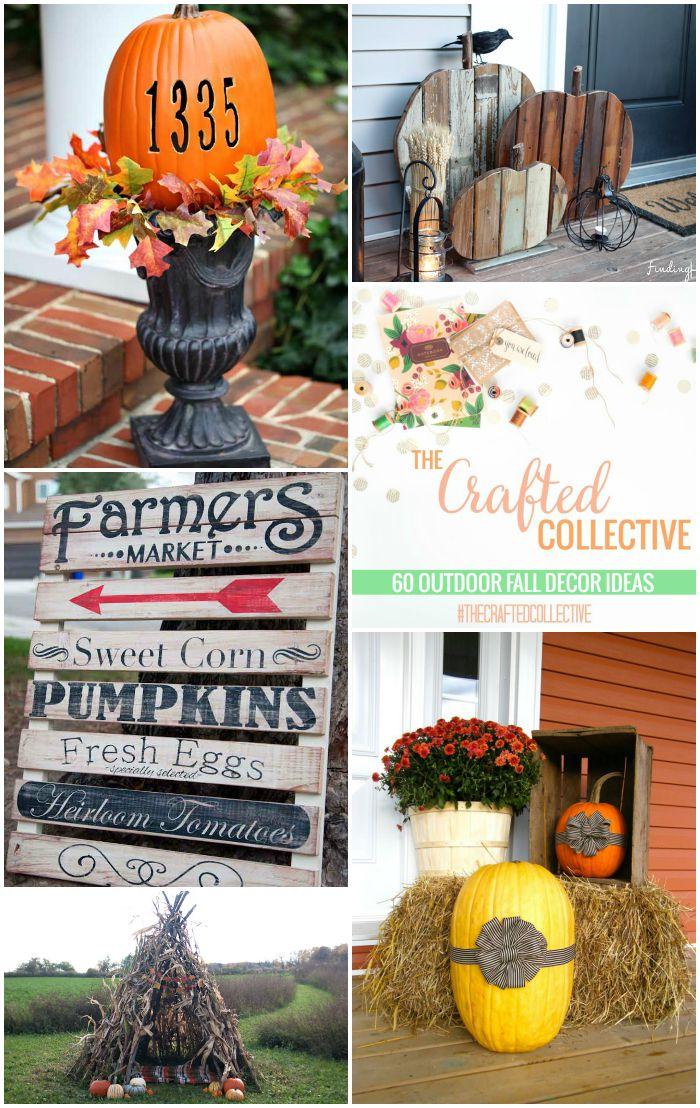 60 Beautiful Outdoor Fall Decor Ideas from around the Web! www.pitterandglink.com