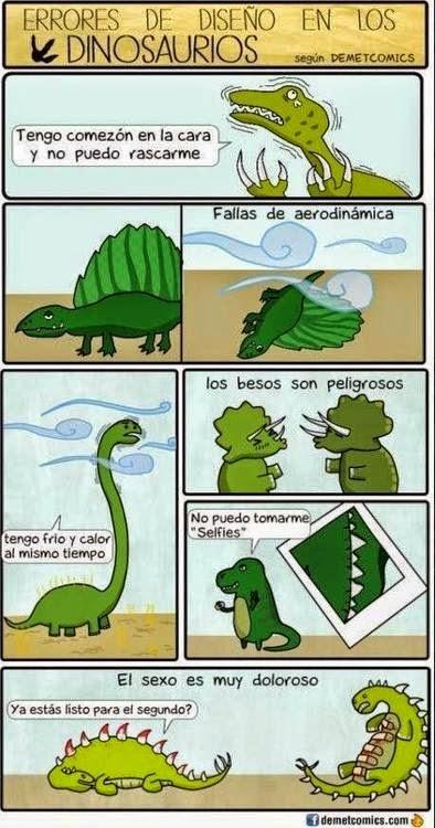 Errores de diseño en los dinosaurios