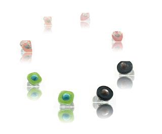 Bijoux fantaisie en verre, collection bagues colorées de transparence
