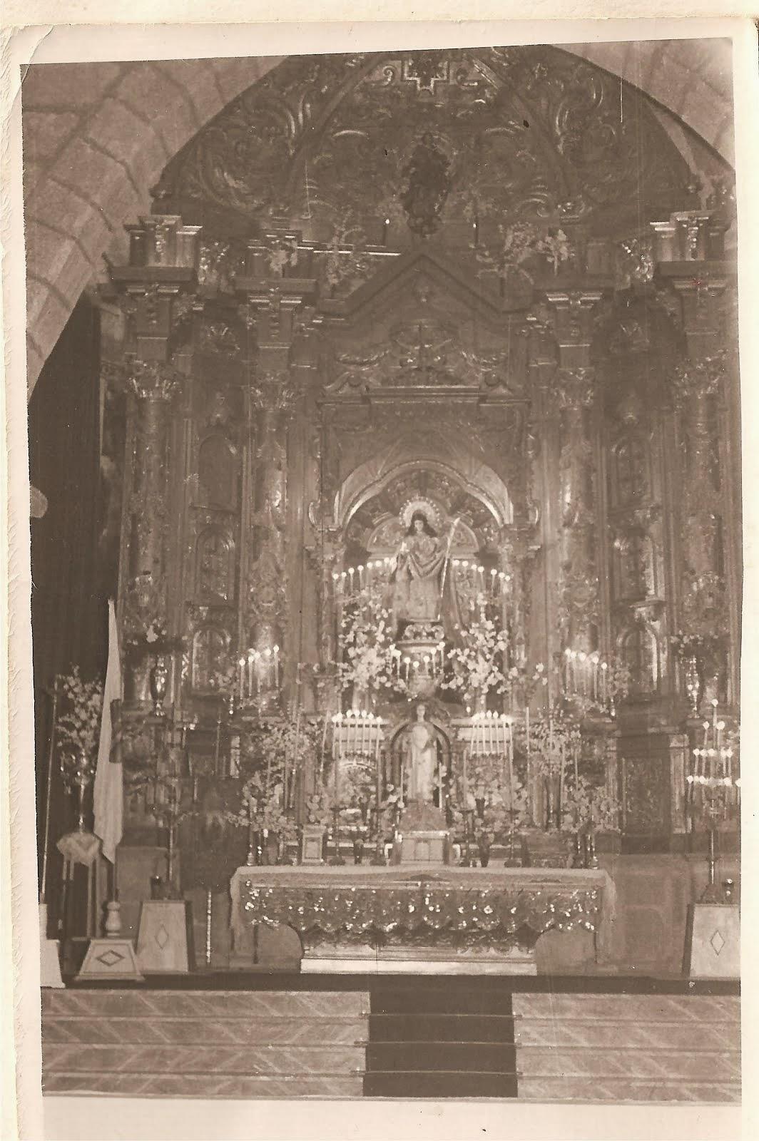 Retablo Mayor en hoy en Badajoz, Pareroquia de Santa Eulalia de Mérida.