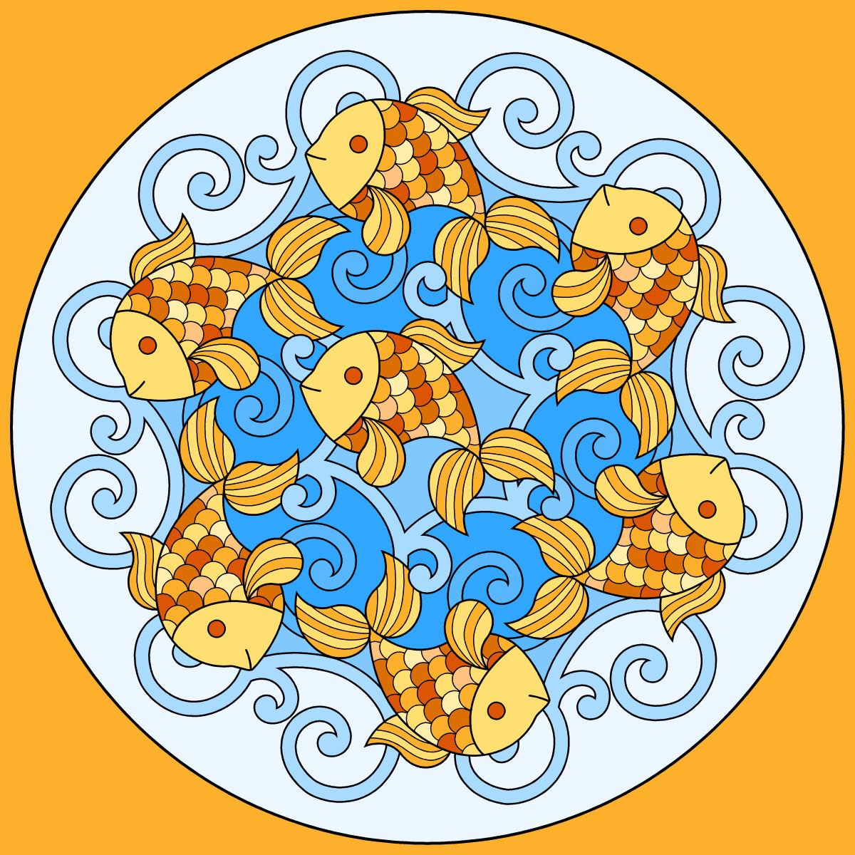 coloriages Mandalas Coloriez  - Coloriage Magique Mandala