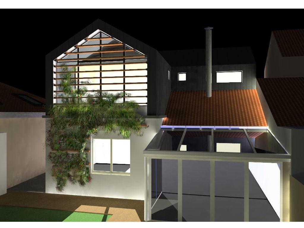 Design Et Architecture Interieure Etude D 39 Une Sur L Vation De Maison Nantaise