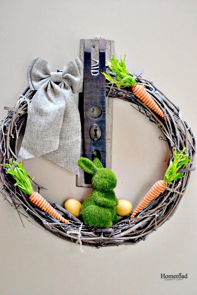 An Easy DIY Easter Wreath www.homeroad.net