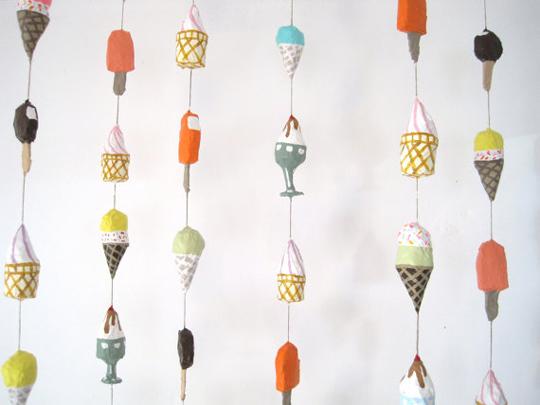 handmade ice cream mobile