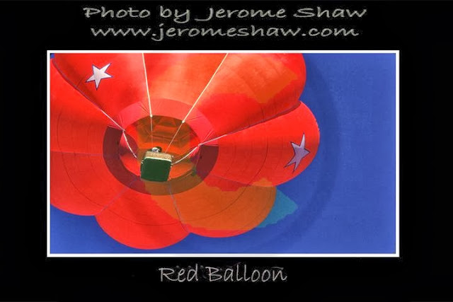 """Red Balloon White Star"" - Snowmass, Colorado - Copyright Jerome Shaw 1979 /  www.JeromeShaw.com"