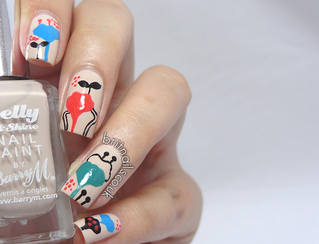 Inspired by a pen brit nails