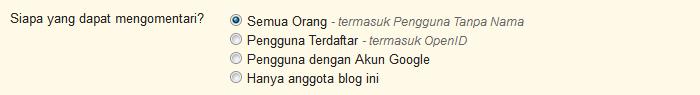 Membuka Komentar Name/URL di Blog