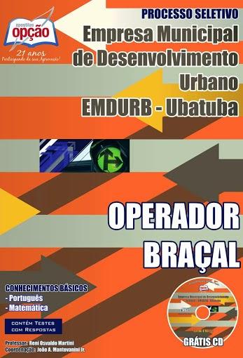 Apostila OPERADOR BRAÇAL EMDURB