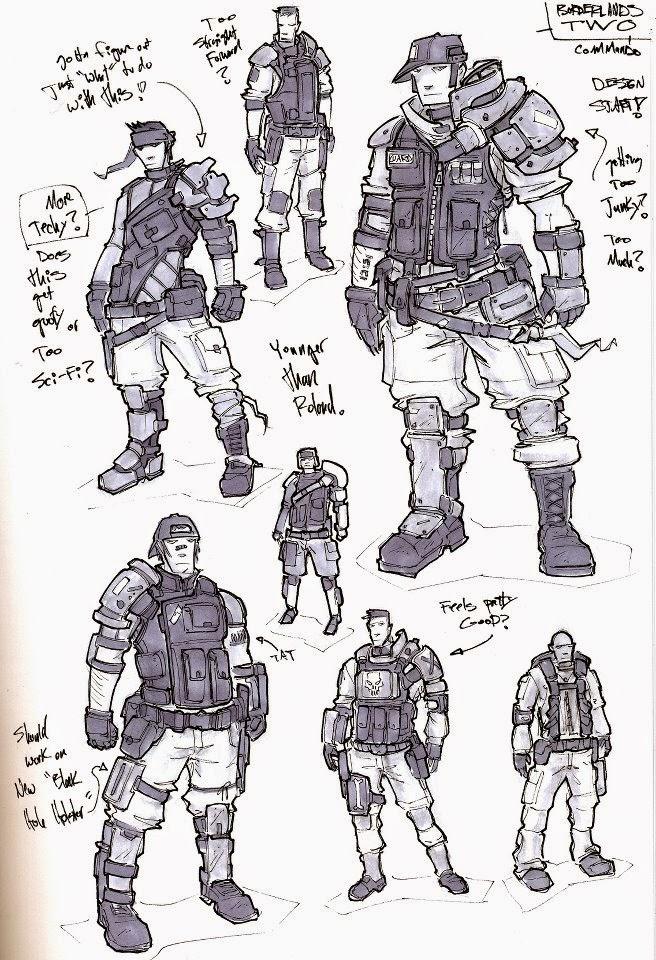 Unit 69 drawing concept art for computer games task 3 - Borderlands 3 box art wallpaper ...