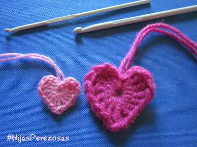 tamaños corazones agujas