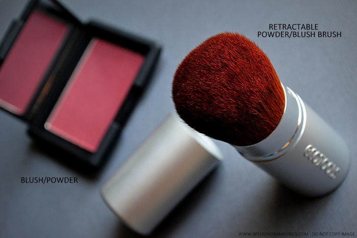 Makeup Tip for Quick Touch-ups on the Go - Blush - Retractable Kabuki Brush