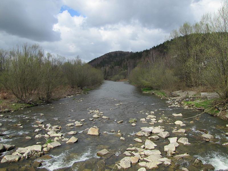 Ustroń-Polana. Rzeka Wisła.