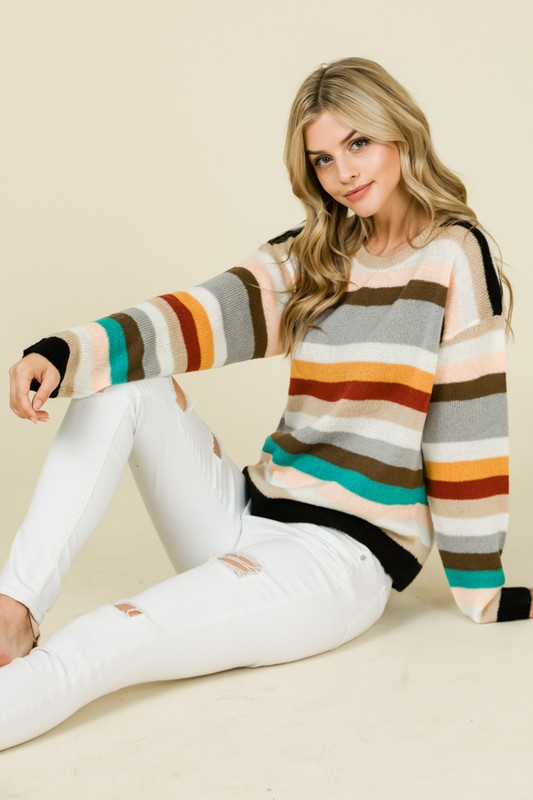 Color News! 1970's Inspired Mixed Colors Stripes