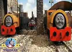 Thomas and his friends character Bill and Ben the train twins 0-4-0 Bagnall Steam Saddle Tank Engine