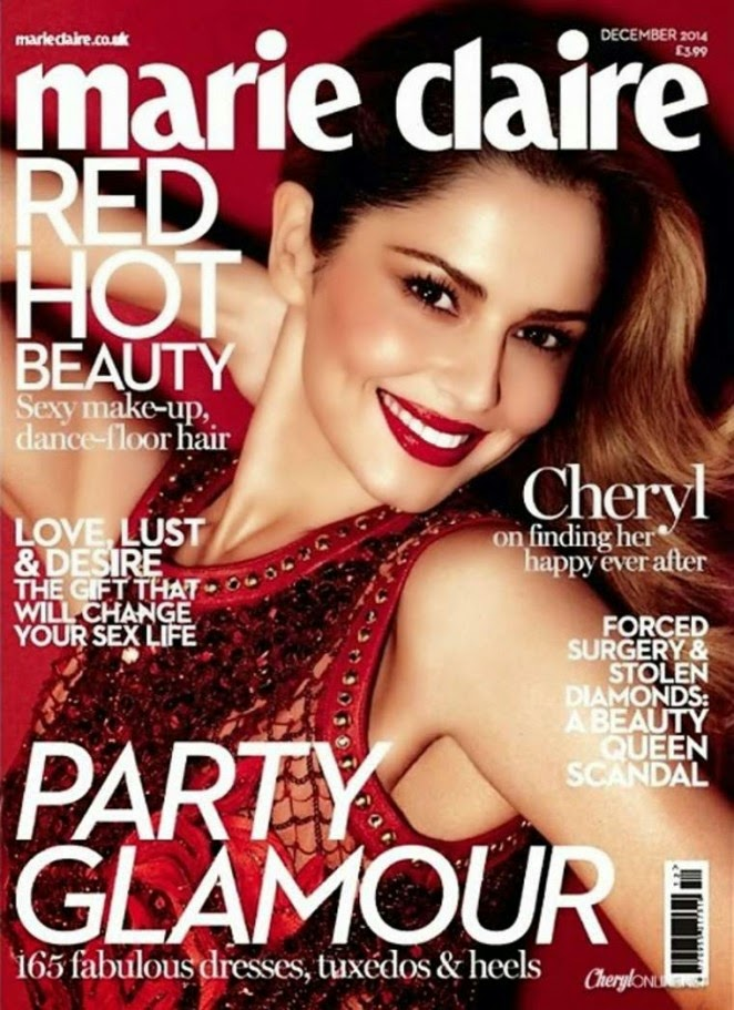 Cheryl Fernandez-Versini is red hot for the Marie Claire UK December 2014 cover